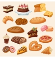 Flat Icon Pastry Set vector image