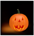 halloween black background vector image vector image