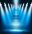 blue background with spotlights vector image vector image