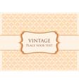 ornamental card template vector image