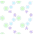 geometrical circle seamless soft colors pattern vector image