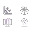 Creative idea sign icons idea icon concept line vector image vector image