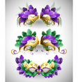 Set of Mardi Gras Masks vector image