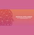 artificial intelligence cybernetic brain binary vector image