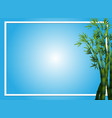border template with bamboo trees vector image