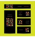Business cards design shelves with fruits vector image