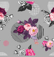 elegant seamless pattern with semi-colored wild vector image