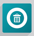 flat trash bin icon vector image