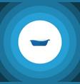 isolated children bathing flat icon bathtub vector image