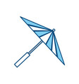japanese umbrella isolated vector image