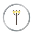 Street light icon in cartoon style isolated on vector image