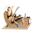 Rest with guitar vector image