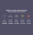 icons minimal infographic text diagram vector image