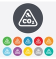 CO2 carbon dioxide formula sign icon Chemistry vector image
