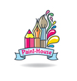 Logo paint vector image vector image