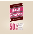 Vintage sale template vector image vector image
