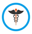 Caduceus Rounded Icon vector image
