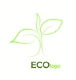 verification Eco logo design template elements vector image