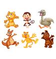 Cartoon Animal Set vector image vector image