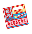 electronic audio console to play music performer vector image