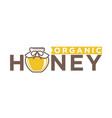organic honey emblem vector image