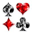 polygonal symbols of playing card vector image
