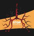 stop smoking concept vector image