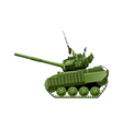 tank in comics style vector image vector image