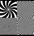 black and white hypnotic psychedelic spiral with vector image vector image
