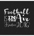 2016 Football typography retro sign euro Soccer vector image