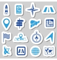 navigation stickers vector image