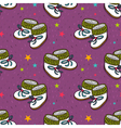 seamless pattern with cute baby booties vector image