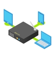 Wireless router isometric 3d icon vector image
