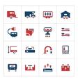 Set color icons of camper caravan trailer vector image