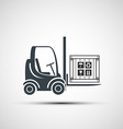 logo forklifts with compartment vector image