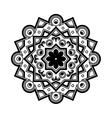 Beautiful Deco Black Mandala Patterned vector image