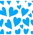 Blue heart seamless pattern vector image
