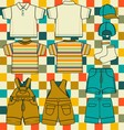 Boys set vector image