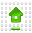 Ecohouse background vector image
