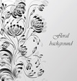 floral background silver vector image