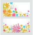 Fresh floral banner vector image