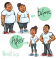 Man and Woman achieving their Weight-Loss goal vector image