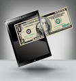 Money with a Touch Pad vector image