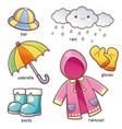 rain clothes vector image