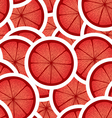 Red citrus seamless background vector image