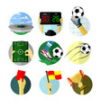 various football game scenery set vector image