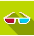 Glasses icon flat style vector image