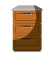 Kitchen chest of drawers vector image