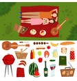 top view of couple in love lying on picnic plaid vector image