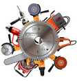 saw with power tools vector image